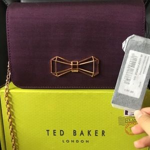 Ter Baker Michala Bow Clutch Bag